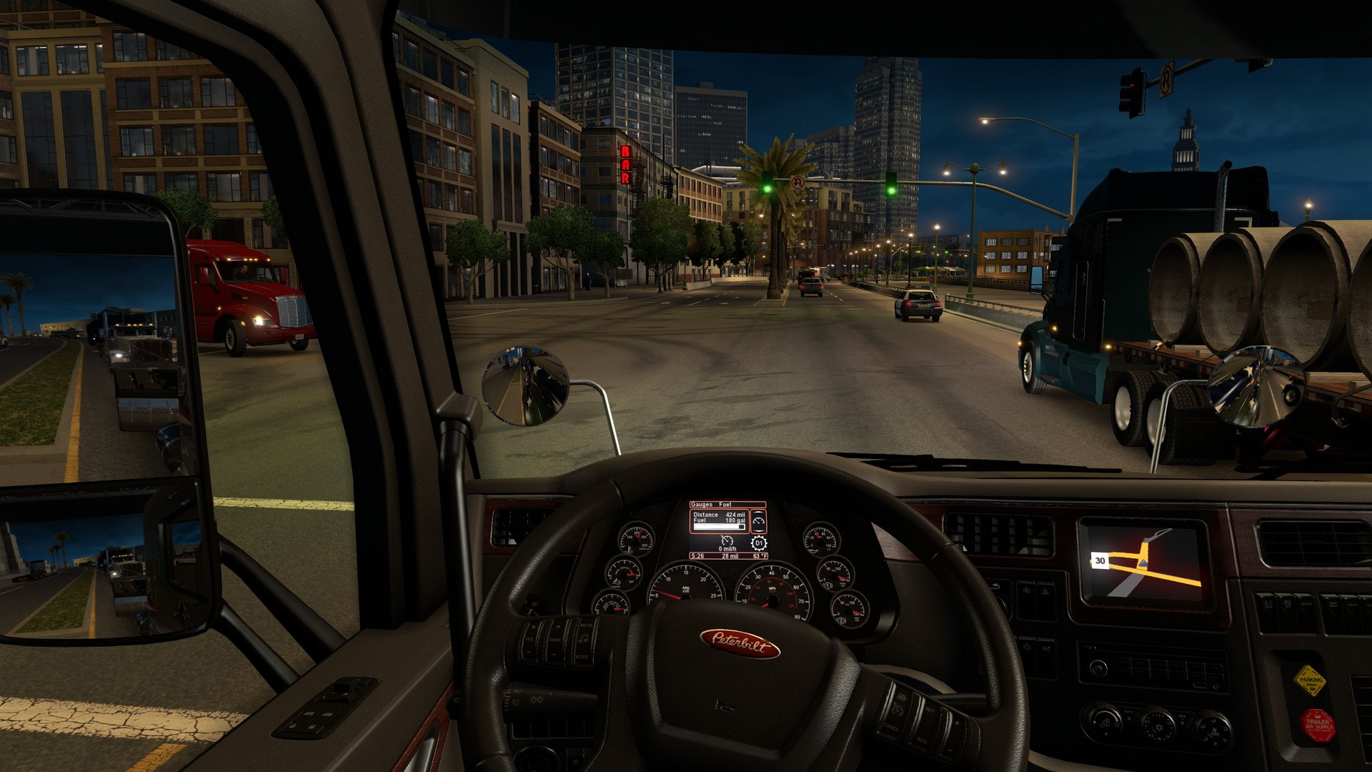 American Truck Simulator - Video of car driving across us map